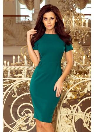 Dorota Klasiska kleita ar īsām piedurknēm zaļa 150-4 Dress Numoco Kleitas Greetha
