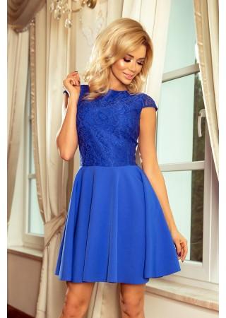 Sievišķīga kleita ar mežģīnēm spilgti zila Numoco