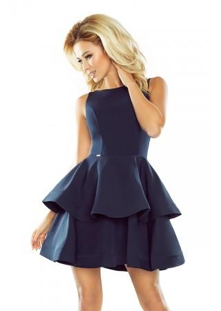 Sievišķīga kupla kleita tumši zila Numoco Kleitas Greetha