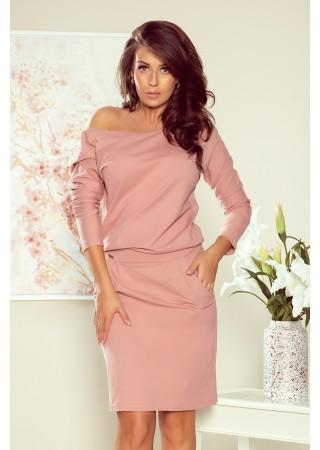 Brīva piegriezuma kleita pūdera rozā 189-7 Numoco Kleitas Greetha
