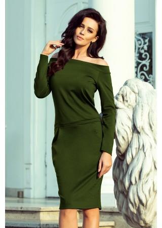 Zaļa kleita Raya 225-1 Numoco Kleitas Greetha