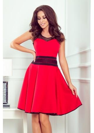 Rica Eleganta kupla kleita sarkana 261-1 Numoco Kleitas Greetha