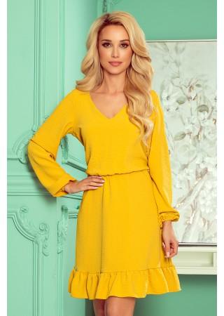Bakari Sievišķīga kleita dzeltena 295-6 Numoco Kleitas Greetha