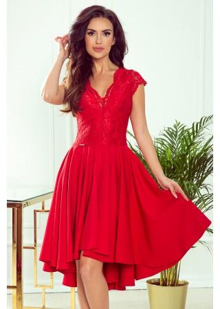 Patricia Kupla kleita ķiršu sarkana 300-2 Numoco Kleitas Greetha