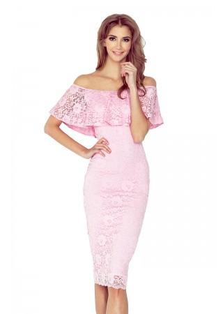 Sievišķīga mežģīņu kleita gaiši rozā Morimia Kleitas Greetha