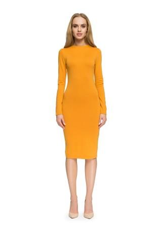 Bodycon kleita dzeltena Style Kleitas Greetha