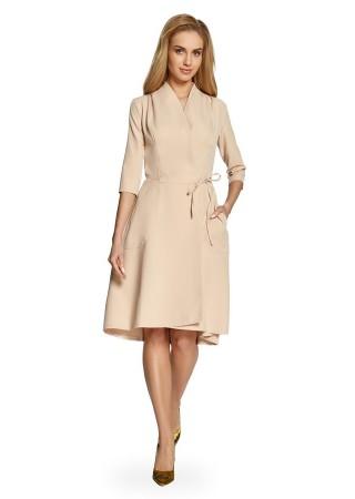 Wrap stila kleita bēša Style Kleitas Greetha