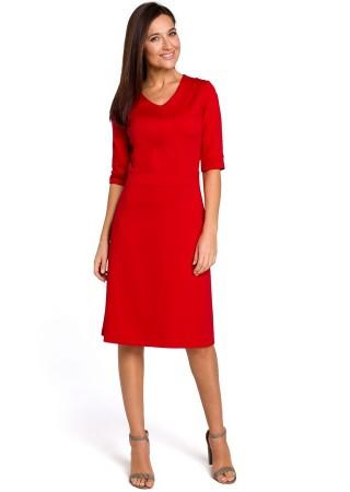 Kleita sarkana S153-red Style Kleitas Greetha