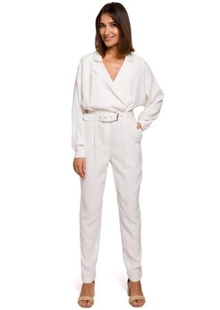 Elegants bikškostīms balts S209-ecru Style Bikškostīmi, Kombinezoni, Komplekti Greetha