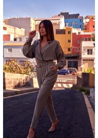 Elegants bikškostīms haki S209-khaki Style Bikškostīmi, Kombinezoni, Komplekti Greetha