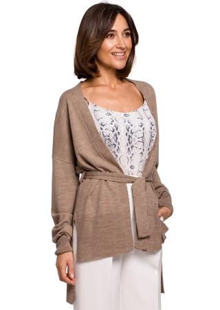 Eleganta adīta jaka bēša S220-beige Style Džemperi, Jakas Greetha