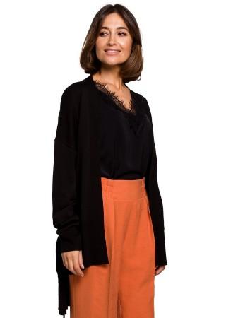 Eleganta adīta jaka melna S220-black Style Džemperi, Jakas Greetha