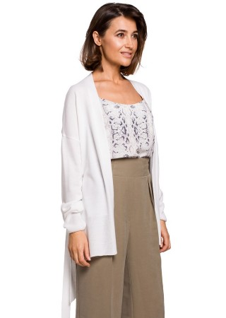Eleganta adīta jaka balta S220-ecru Style Džemperi, Jakas Greetha