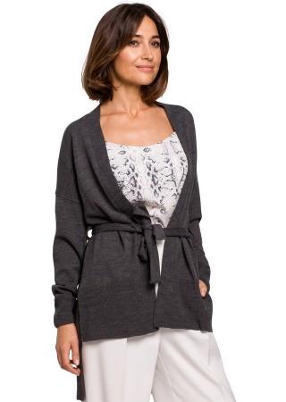 Eleganta adīta jaka pelēka S220-grey Style Džemperi, Jakas Greetha