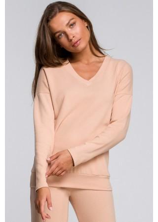 Mīksts svīteris bēšs S246-beige Style Džemperi, Puloveri, Jakas Greetha