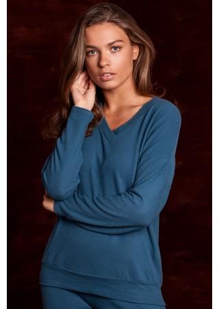 Mīksts svīteris zils S246-ocean blue Style Džemperi, Puloveri, Jakas Greetha