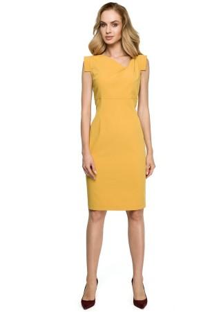 Kleita dzeltena S121-yellow Style Kleitas Greetha