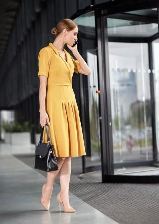 Kleita dzeltena S122-yellow Style Kleitas Greetha