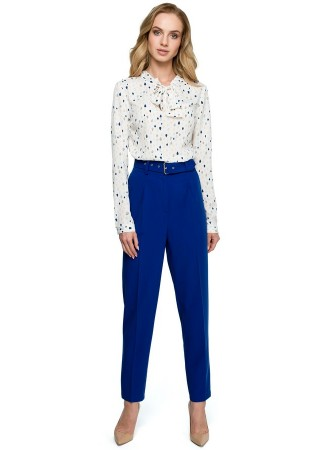 Bikses ar jostu zilas S124-royal blue Style Bikses, Legingi, Šorti Greetha