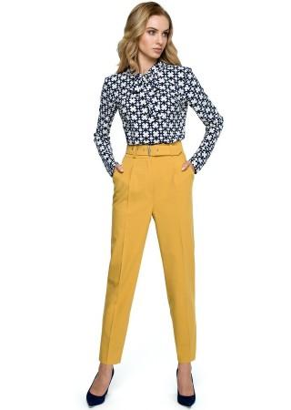 Bikses ar jostu dzeltenas S124-yellow Style Bikses, Legingi, Šorti Greetha