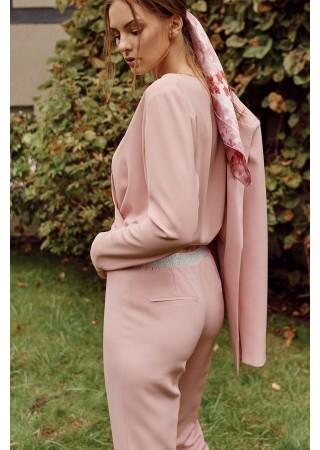 Chino tipa bikses rozā MK035-crepepink Bikses, Legingi, Šorti Greetha